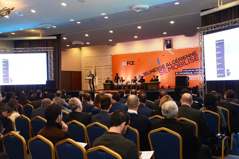 JiL'FCE a organisé, le mercredi 16 décembre 2015 la première rencontre dédiée à l'entreprenariat chez les jeunes sous le thème : «Jeunesse & Entreprenariat !La jeunesse se mobilise pour l'émergence de l'économie Algérienne»
