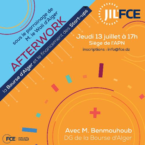 Le financement des start-up : Le DG de la Bourse d'Alger invité de JIL'FCE