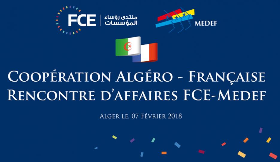 Coopération algéro-française :  Le FCE reçoit une délégation du Medef